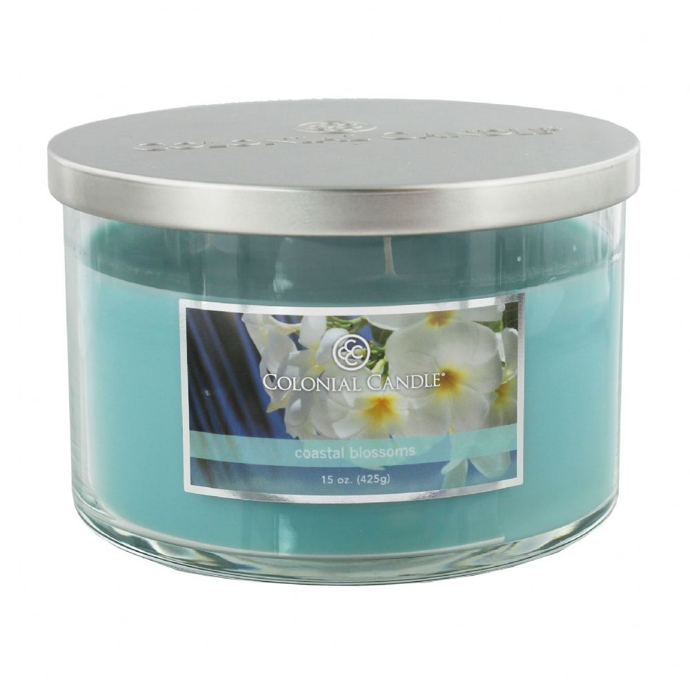 Colonial Candle Luxury Scented Coastal Blossoms Jar Candle
